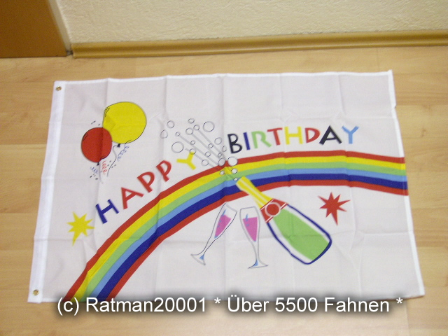 Happy Birthday - 60 x 90 cm