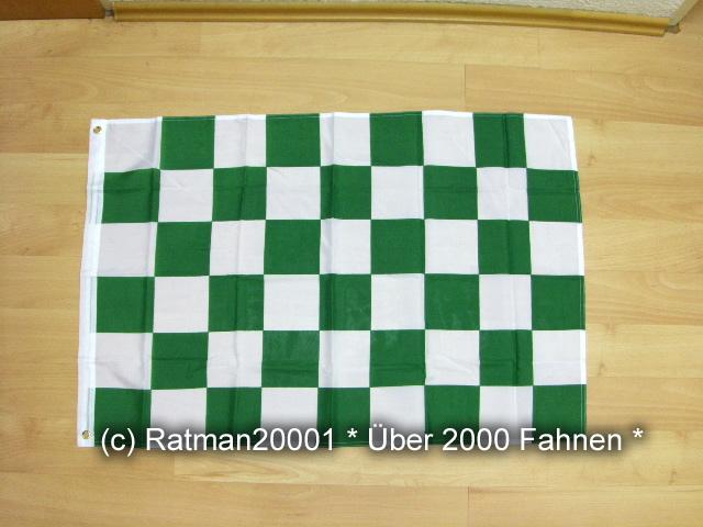 Karo Grün Weiß - 60 x 90 cm