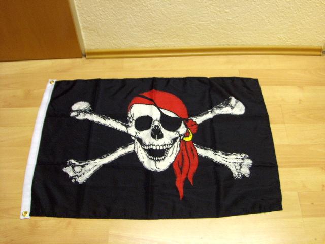 Pirat Totenkopf Tuch - 60 x 90 cm