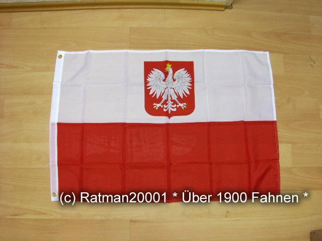 Polen mit Wappen - 60 x 90 cm