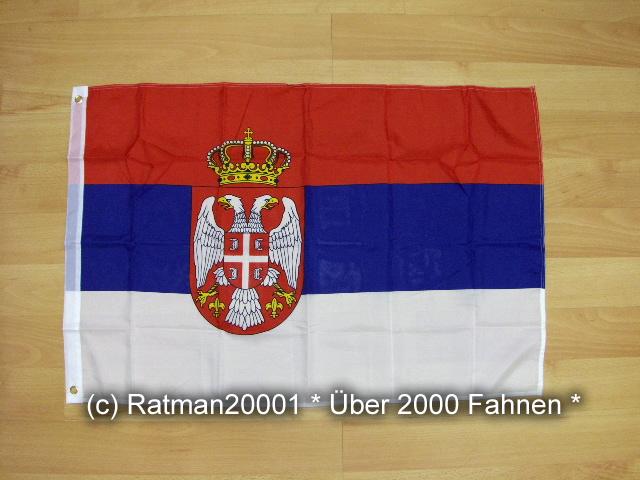 Serbien mit Wappen - 60 x 90 cm