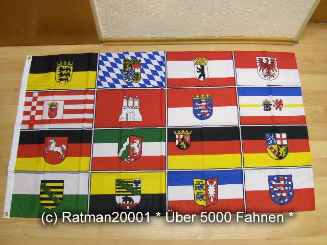 16 Bundesländer - 90 x 150 cm