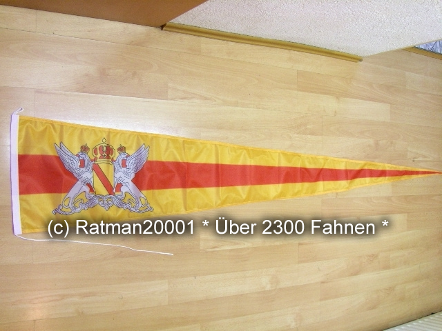 Baden Grossherzogtum Wimpel Langwimpel - 38 x 240 cm