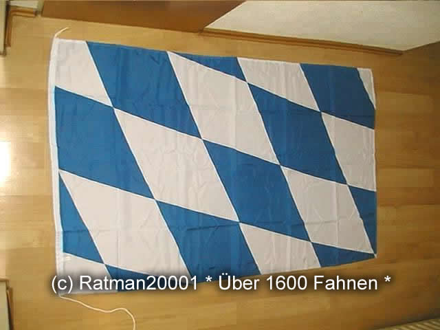 Bayern Raute mit Seil - 100 x 150 cm