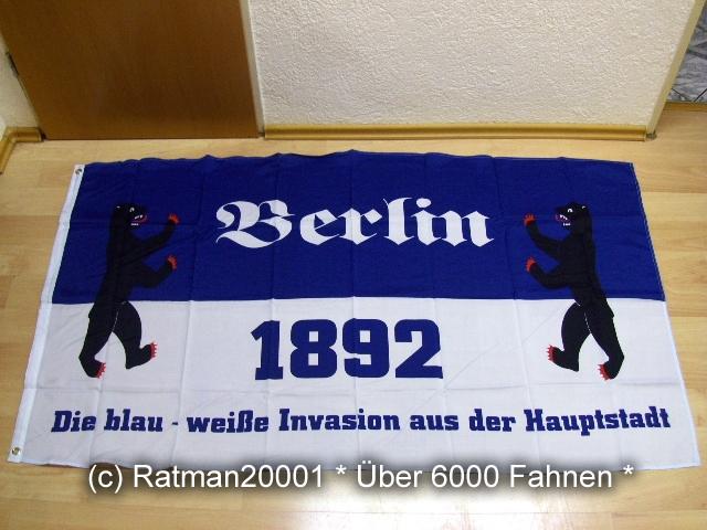 Berlin 1892 Die blau weiße die Invasion - 90 x 150 cm