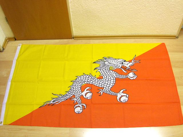90 x 150 cm Fahnen Flagge Bhutan Neu