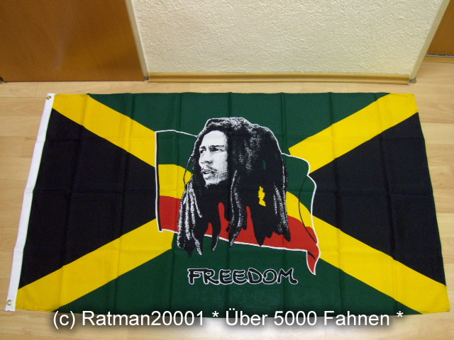 Bob Marley auf Jamaica Jamaika - 90 x 150 cm