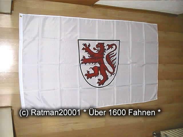 Braunschweig Weiß mit Wappen - 90 x 150 cm