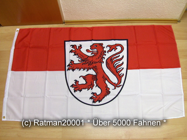 Braunschweig mit Wappen - 90 x 150 cm