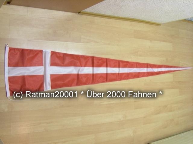 Dänemark Langwimpel Wimpel - 38 x 240 cm