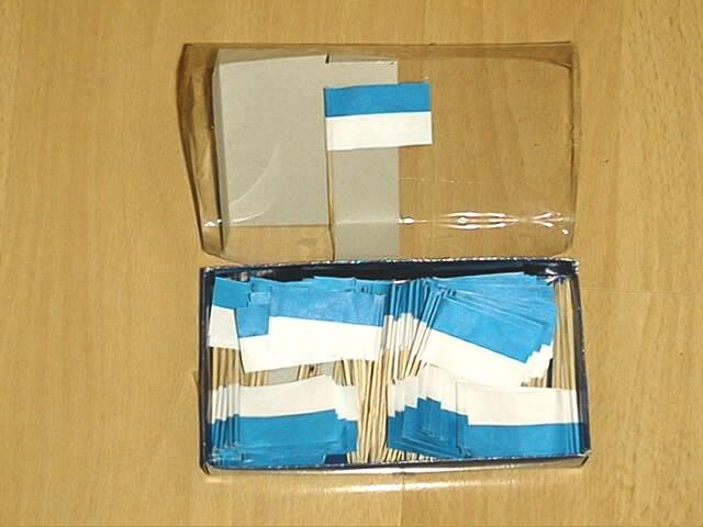 Deko Picker Blau-Weiß 288 Stück