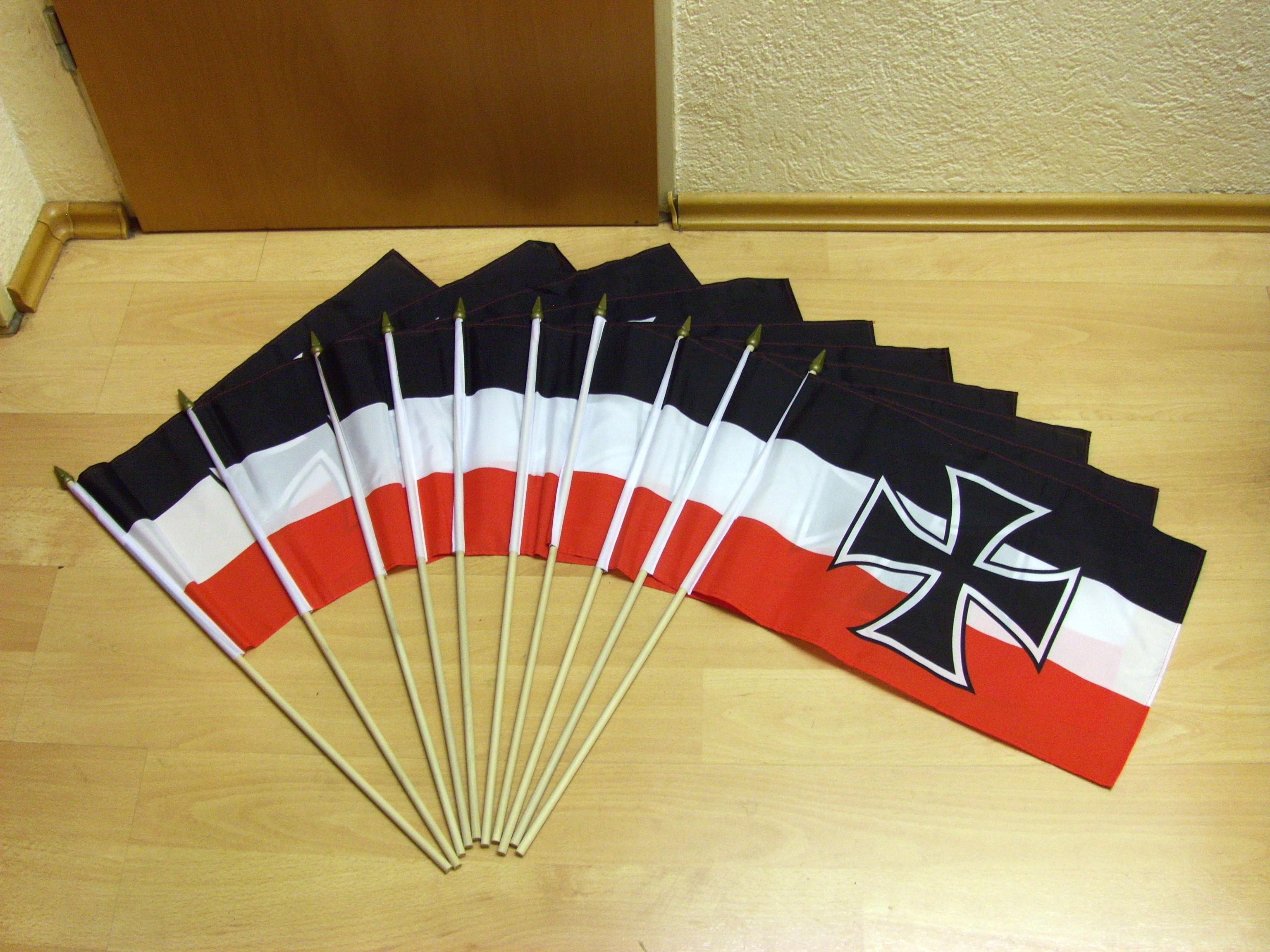 Stockflagge Fahne Flagge 10 Euroschein 30 x 45 cm