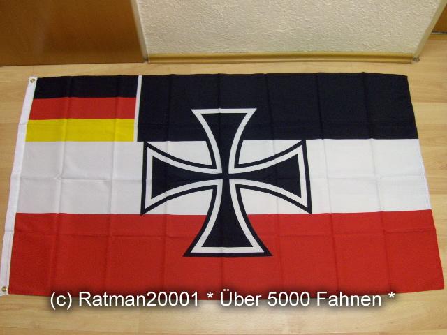 Deutsches Reich Gösch Kreuz BRD 311 - 90 x 150 cm