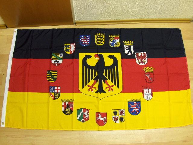 Deutschland Adler Wappen Alle 16 Bundesländer - 90 x 150 cm