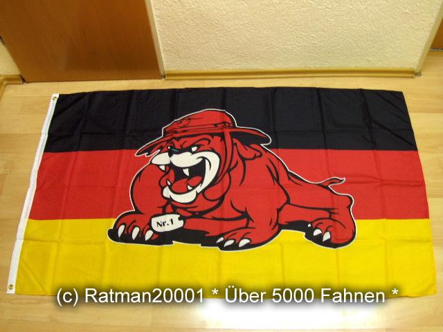 Deutschland Nr.1 Bulldog Fan - 90 x 150 cm