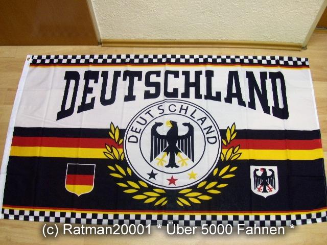 Deutschland Sport Fußball Lorbeerkranz Sonderposten - 90 x 150 cm