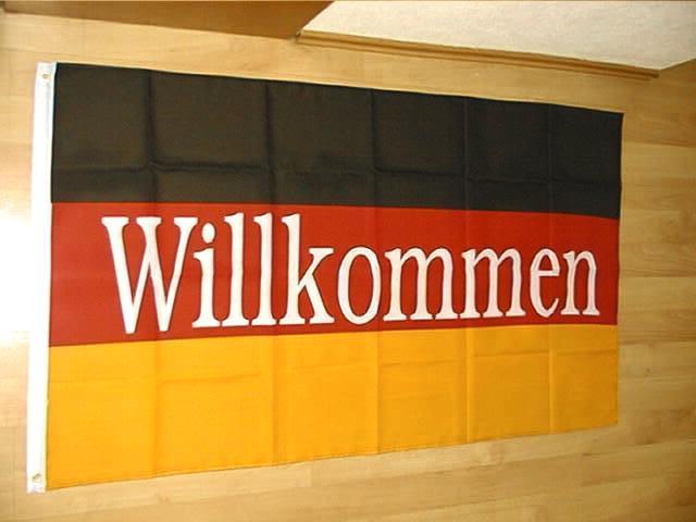 Deutschland Willkommen - 90 x 150 cm