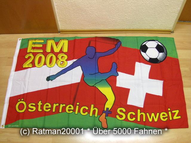 EM 2008 Österreich Schweiz Fan zur Erinnerung - 90 x 150 cm