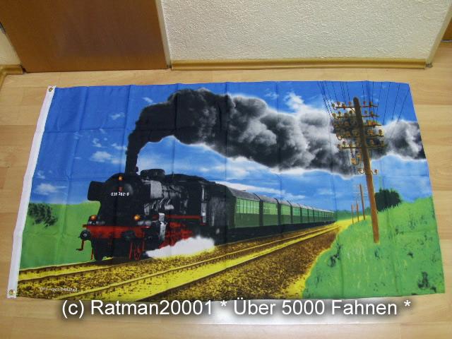 Eisenbahn Dampflok - 3 - 90 x 150 cm