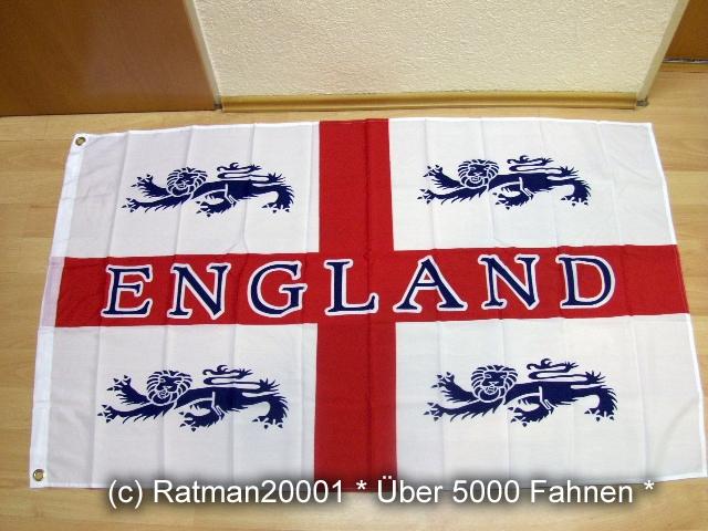 England mit 4 Löwen St, George - 90 x 150 cm