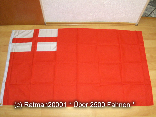 England Royal Navy Rot 1620 - 90 x 150 cm