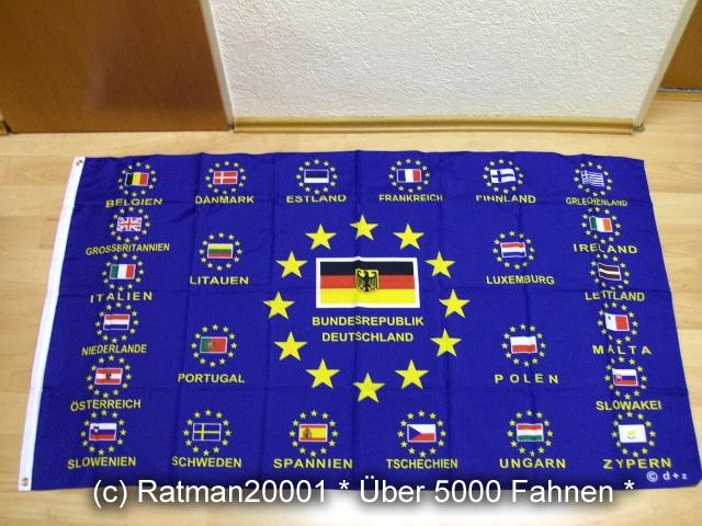 Europa 25 Flaggen - 90 x 150 cm