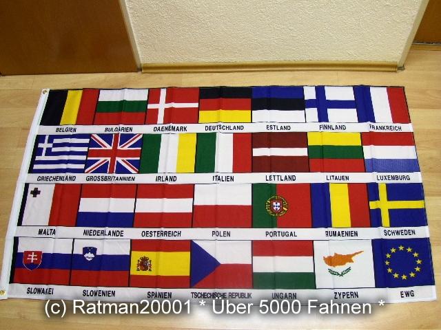 Europa 28 Länder - 90 x 150 cm