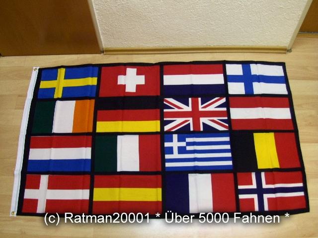 Europa 16 Länder - 90 x 150 cm
