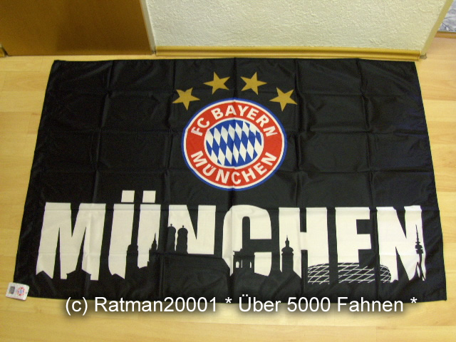 F.C. Bayern München Schwarz - 100 x 150 cm