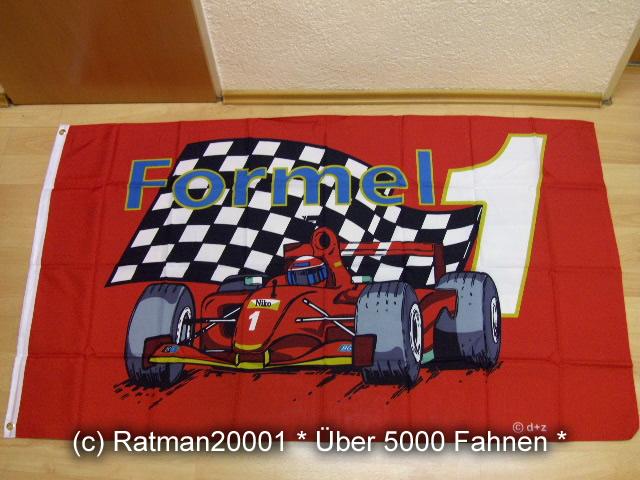 Formel 1 Rot - 90 x 150 cm