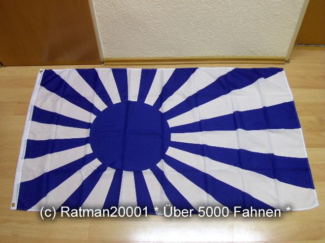 Japan Rising Sun Blau Weiss Kampfflagge Fan - 90 x 150 cm