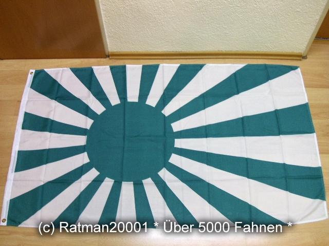 Japan Rising Sun Grün Weiß Kampfflagge Fan - 90 x 150 cm