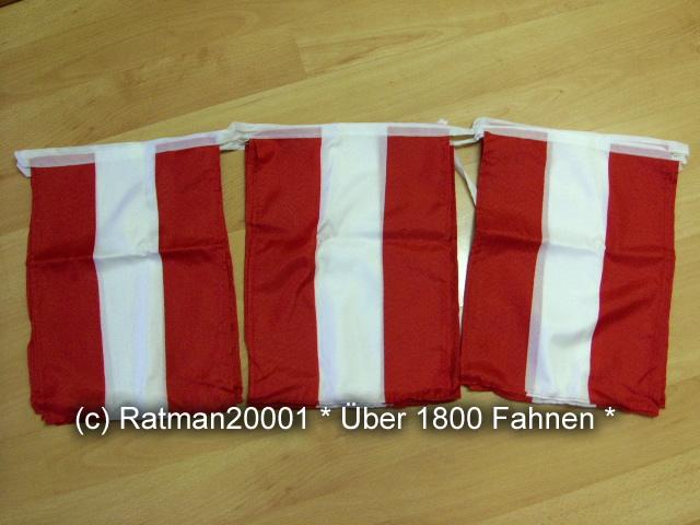 Flaggenkette Österreich 15 Fahnen