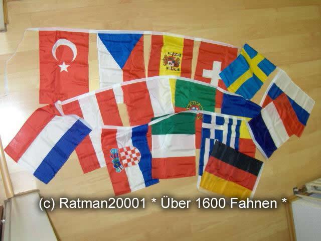 Flaggenkette Europa Länder 16 Fahnen