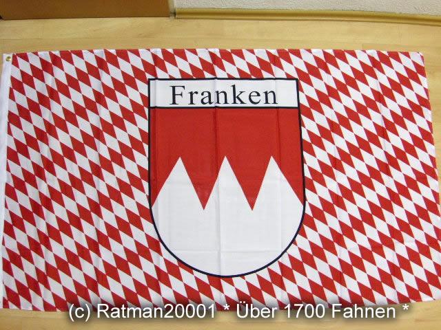 Franken Rot Schrift - 90 x 150 cm
