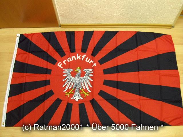 Frankfurt Fan Kampfflagge Rising Sun - 90 x 150 cm
