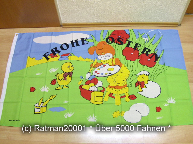 Frohe Ostern - 90 x 150 cm