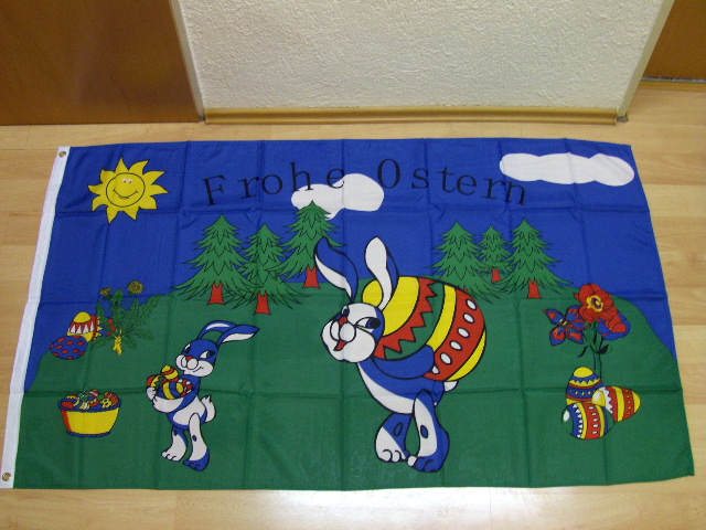 Frohe Ostern 2 - 90 x 150 cm