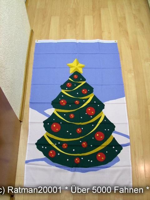 Frohe Weihnachten Baum Banner - 90 x 150 cm