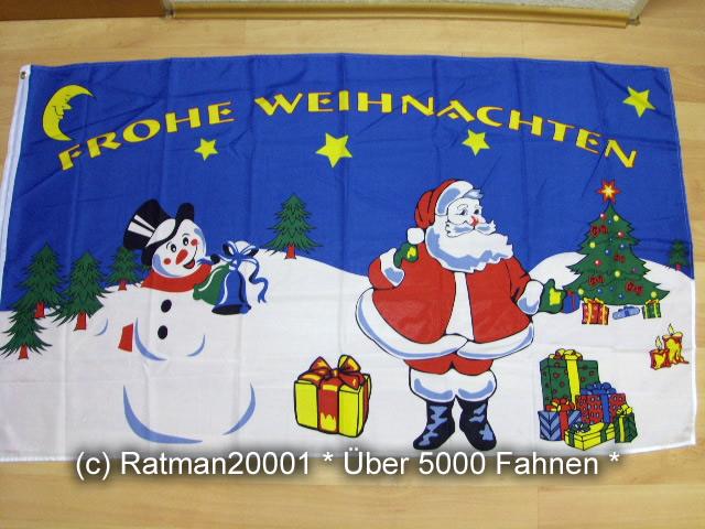 Frohe Weihnachten Schneemann - 90 x 150 cm