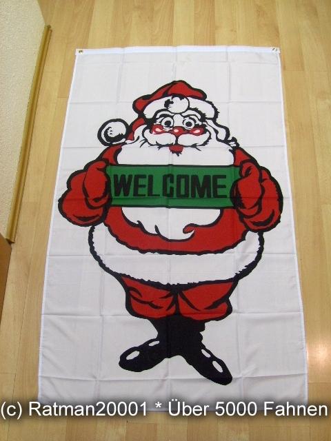 Frohe Weihnachten Welcome Banner - 90 x 150 cm