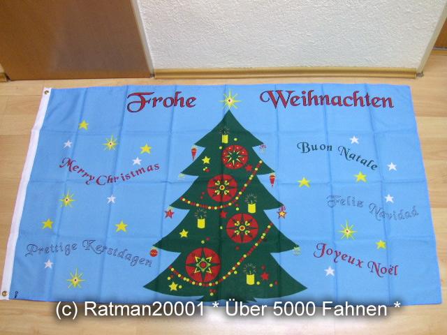Frohe Weihnachten Alle Sprachen - 90 x 150 cm