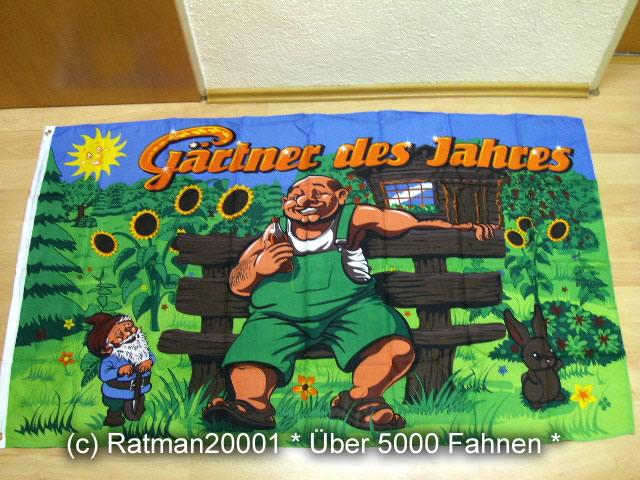 Gärtner des Jahres - 90 x 150 cm