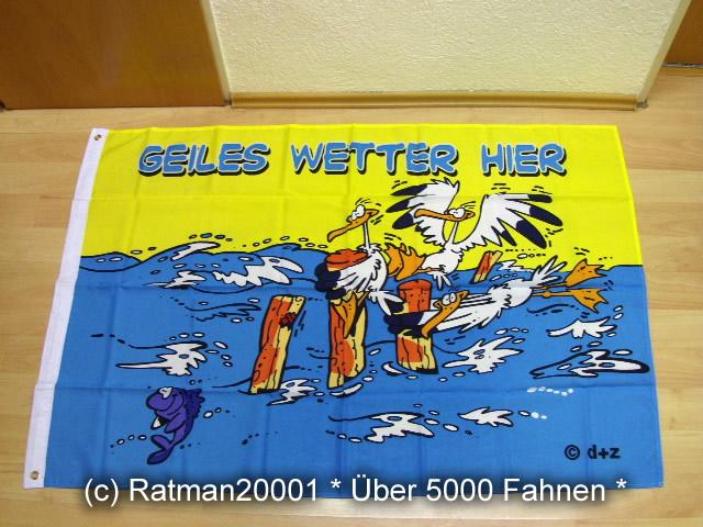 Geiles Wetter Hier Möwe - 90 x 150 cm