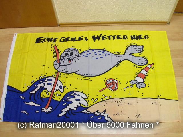 Geiles Wetter Hier Seehund 90 x 150 cm