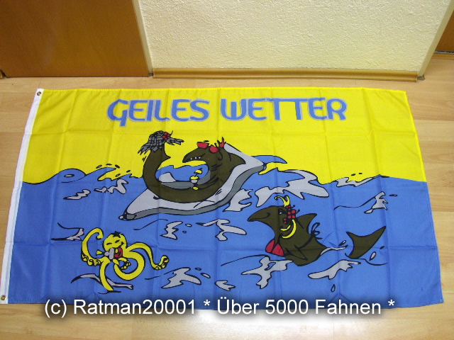 Geiles Wetter Krake - 90 x 150 cm
