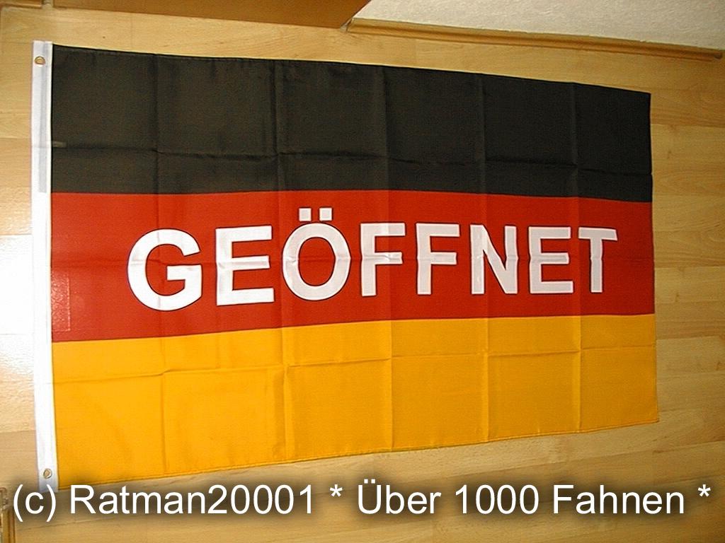 Deutschland Geöffnet - 90 x 150 cm