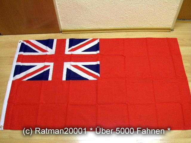 Großbritannien Handelsflagge Red Ensign - 90 x 150 cm