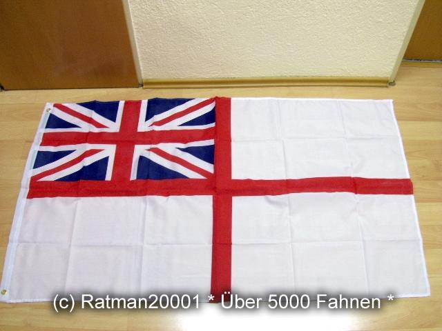 Großbritannien See Kriegsflagge White Ensign - 90 x 150 cm