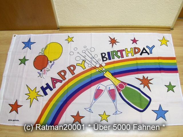 Happy Birthday Geburtstag - 90 x 150 cm